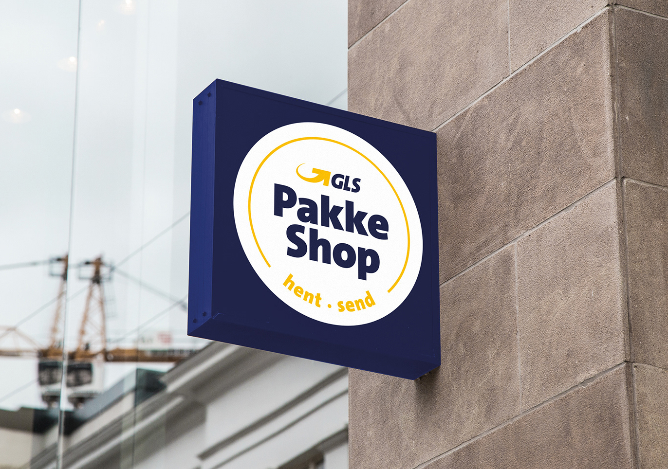 GLS Pakkeshop - logo outdoor